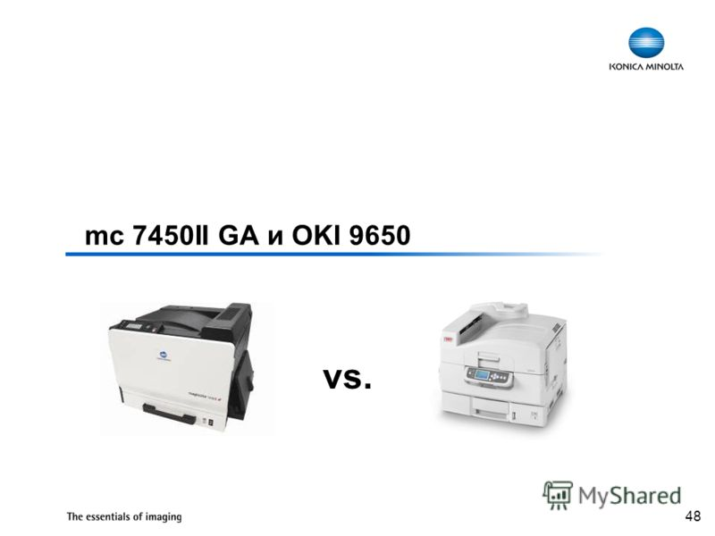 48 mc 7450II GA и OKI 9650 vs.