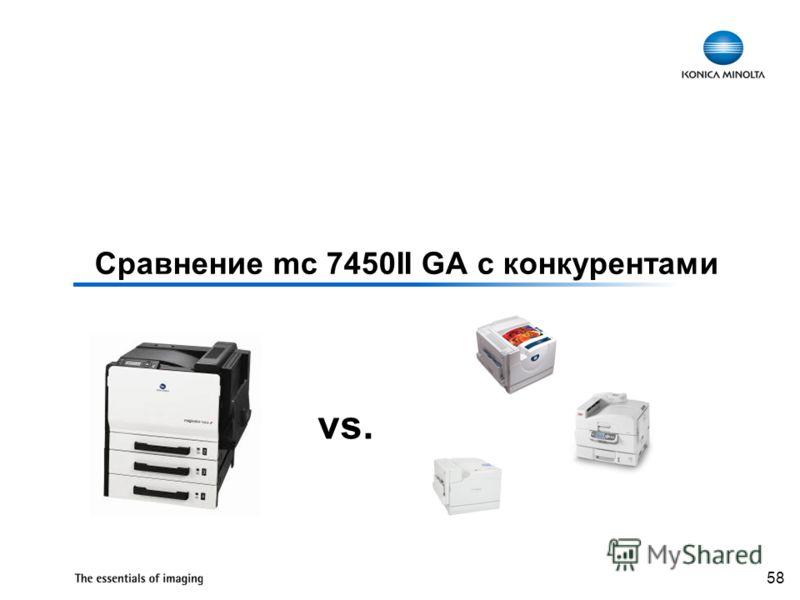 58 Сравнение mc 7450II GA с конкурентами vs.