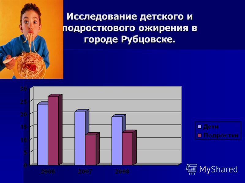 Исследование детского и подросткового ожирения в городе Рубцовске.