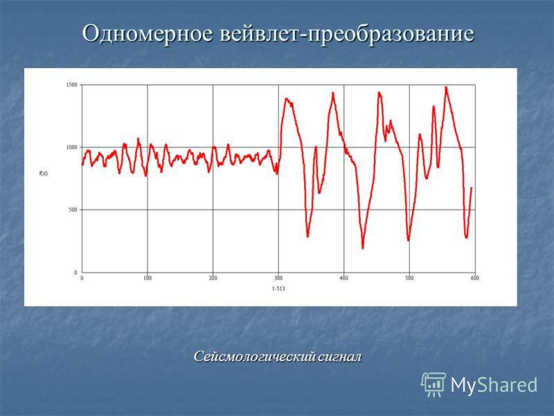 Одномерное вейвлет-преобразование Сейсмологический сигнал