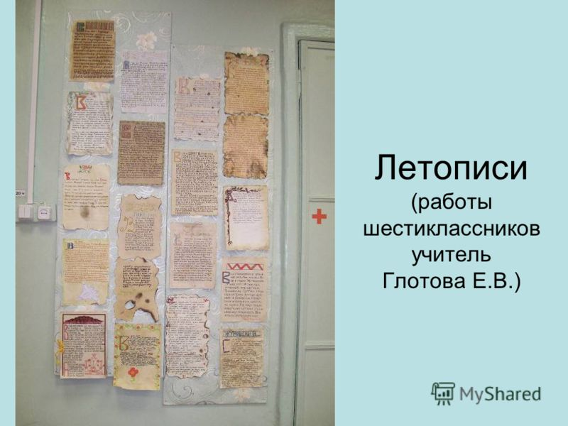 Летописи (работы шестиклассников учитель Глотова Е.В.)