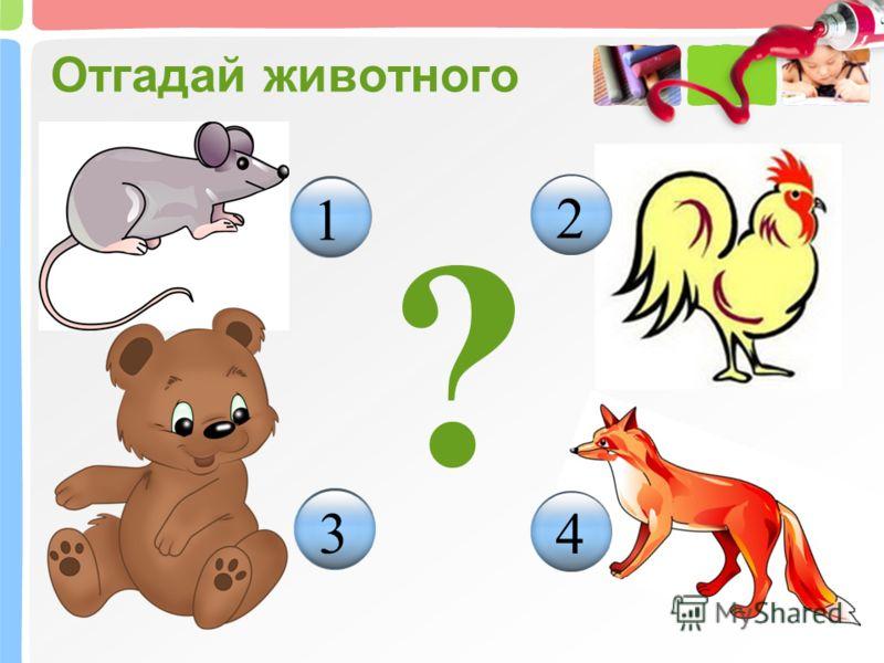 Отгадай животного ? 1 2 3 4