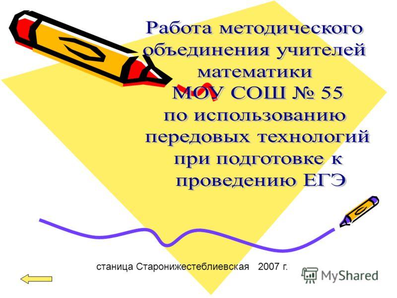 станица Старонижестеблиевская 2007 г.