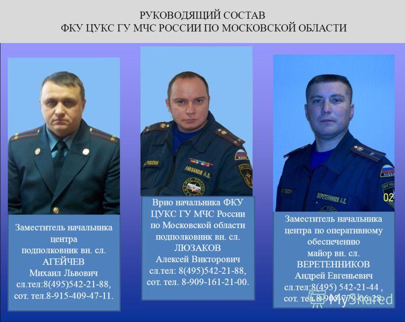 Цукс по московской области руководство