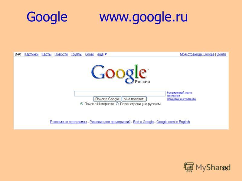 36 Google www.google.ru