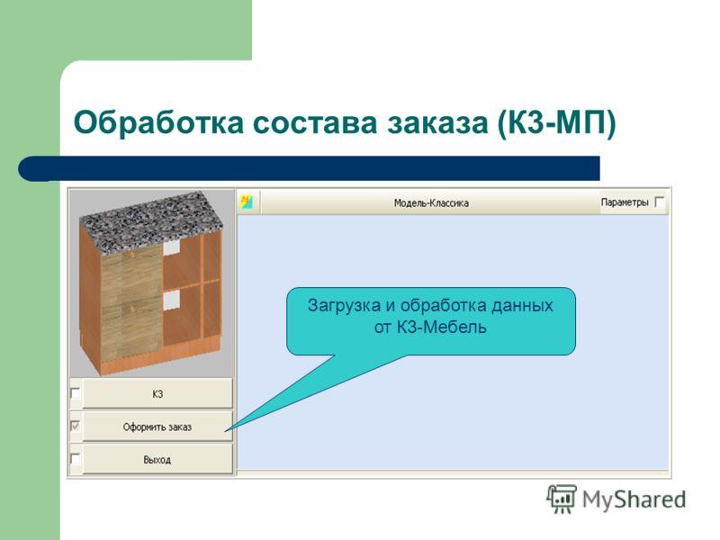 Обработка состава заказа (К3-МП) Загрузка и обработка данных от К3-Мебель