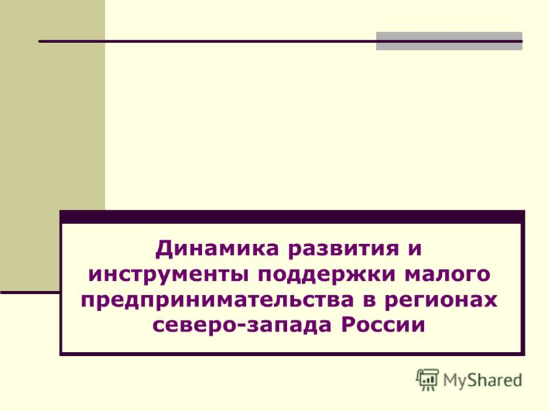 Динамика развития и инструменты поддержки малого предпринимательства в регионах северо-запада России