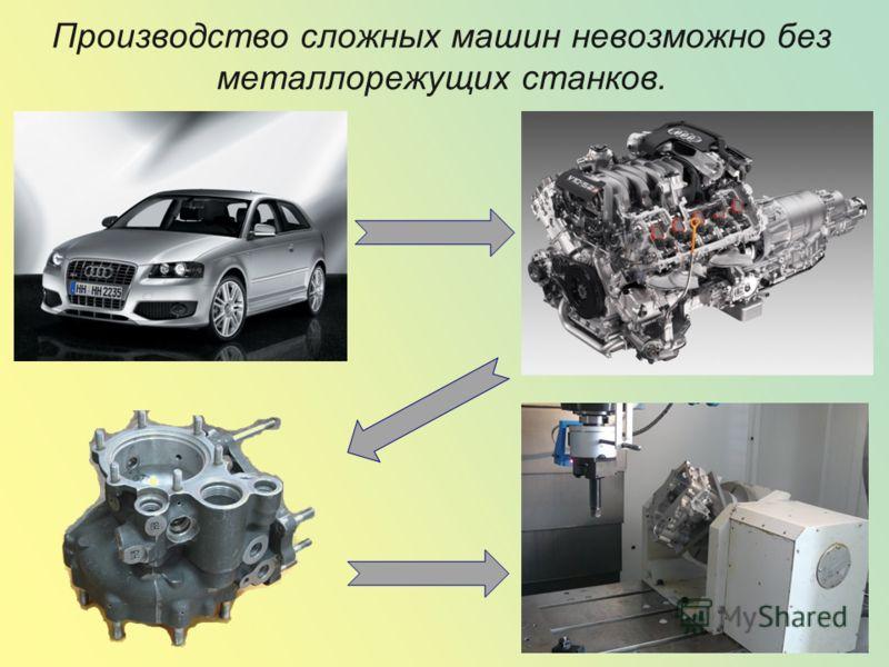 Производство сложных машин невозможно без металлорежущих станков.