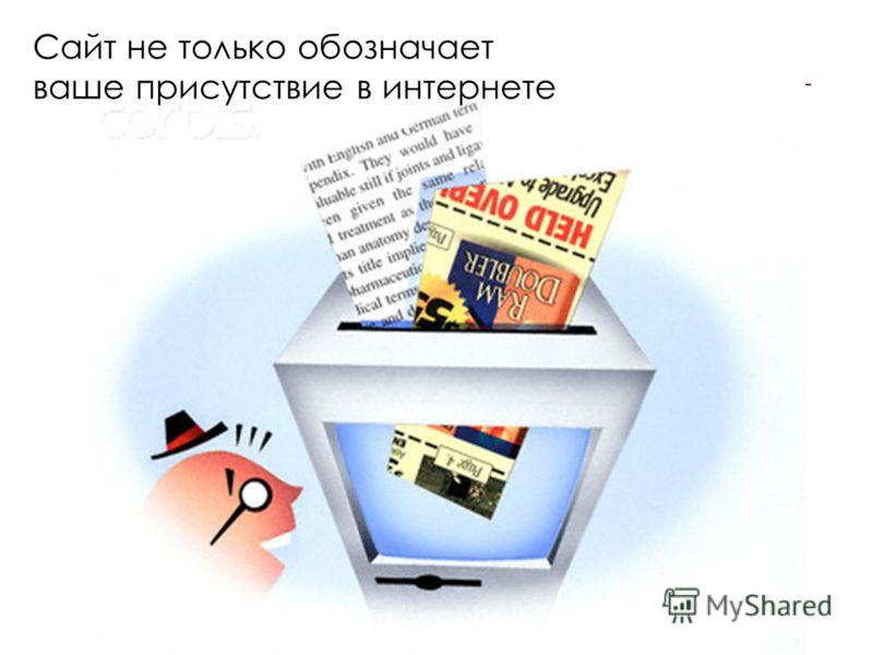 Сайт не только обозначает ваше присутствие в интернете