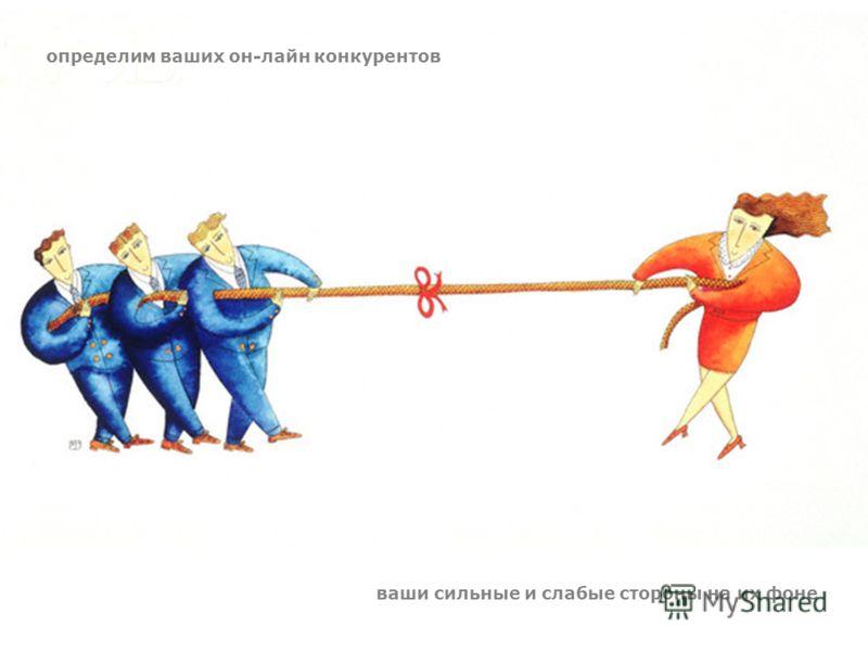 определим ваших он-лайн конкурентов ваши сильные и слабые стороны на их фоне