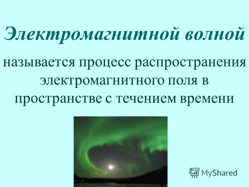 Электромагнитной волной называется процесс распространения электромагнитного поля в пространстве с течением времени