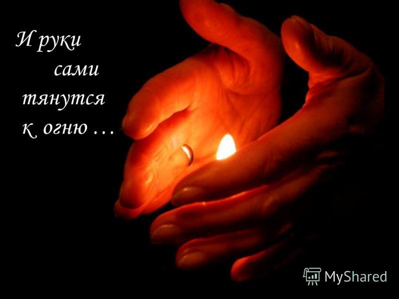 И руки сами тянутся к огню …