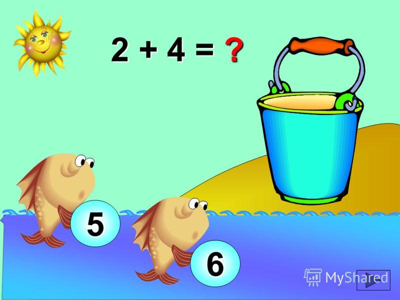 2 + 4 = ? 5 6