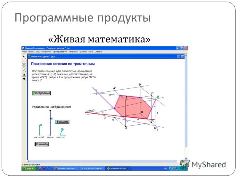 Программные продукты « Живая математика »