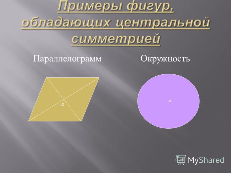 Параллелограмм Окружность о.о.о