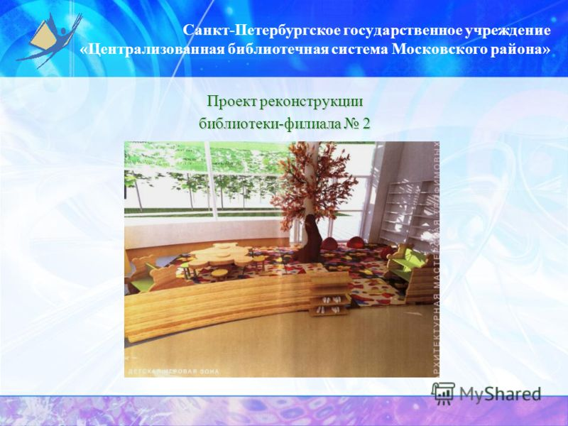 Санкт-Петербургское государственное учреждение «Централизованная библиотечная система Московского района» Проект реконструкции библиотеки-филиала 2