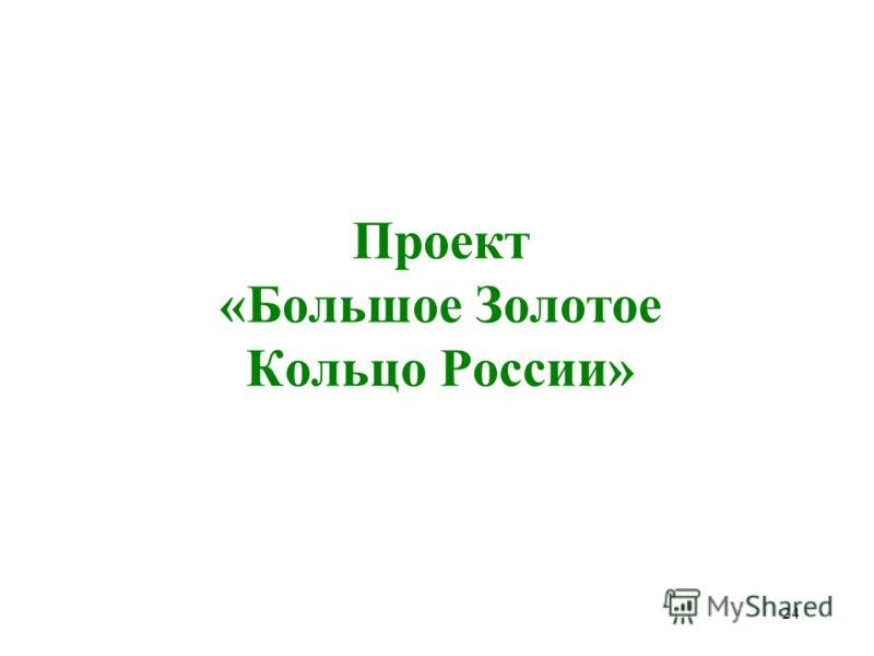 24 Проект «Большое Золотое Кольцо России»