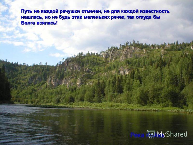 Путь не каждой речушки отмечен, не для каждой известность нашлась, но не будь этих маленьких речек, так откуда бы Волга взялась! Река Койва