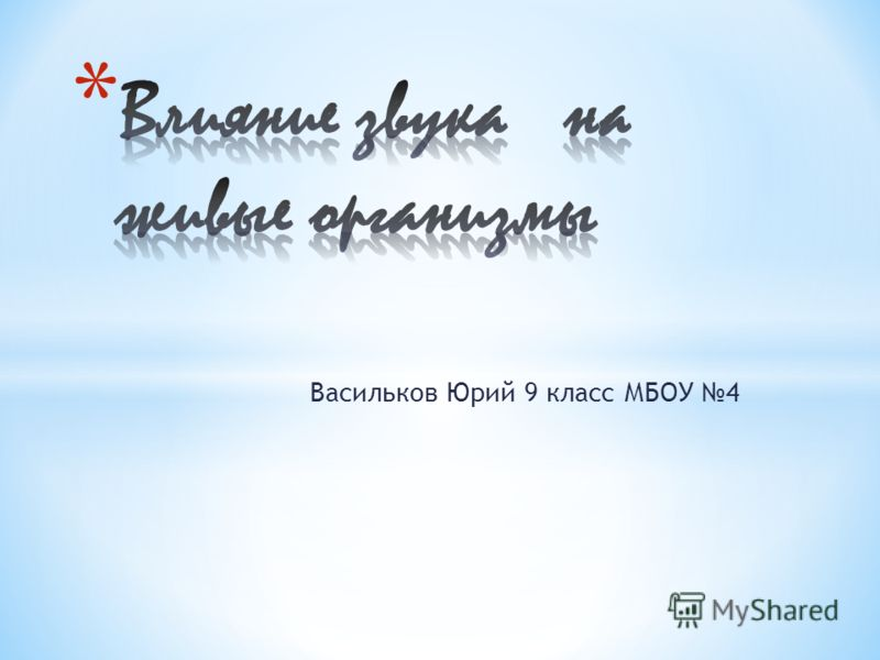 Васильков Юрий 9 класс МБОУ 4