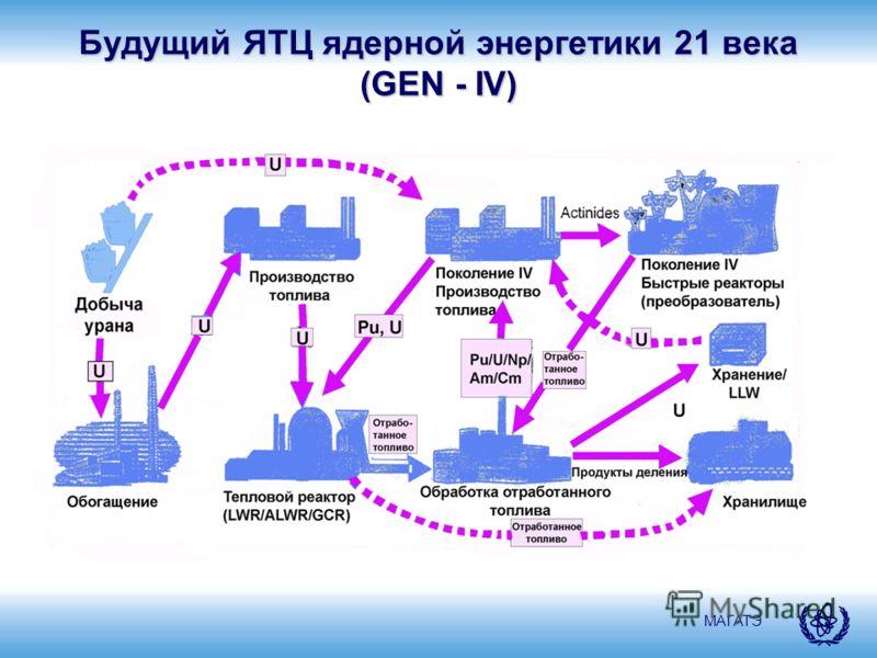 МАГАТЭ Будущий ЯТЦ ядерной энергетики 21 века (GEN - IV)