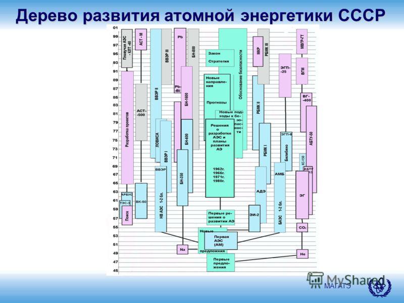 МАГАТЭ Дерево развития атомной энергетики СССР