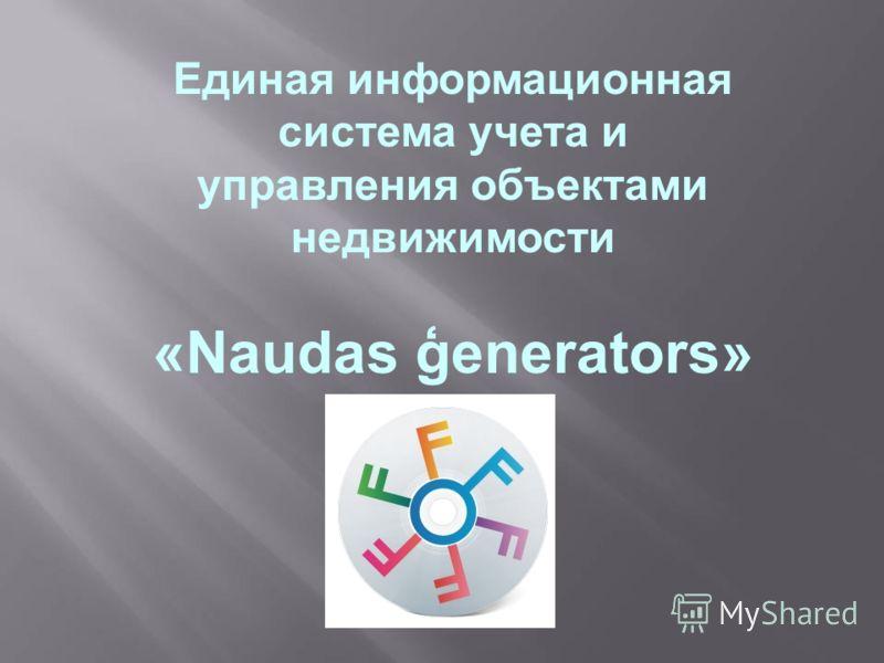 Единая информационная система учета и управления объектами недвижимости «Naudas ģenerators»