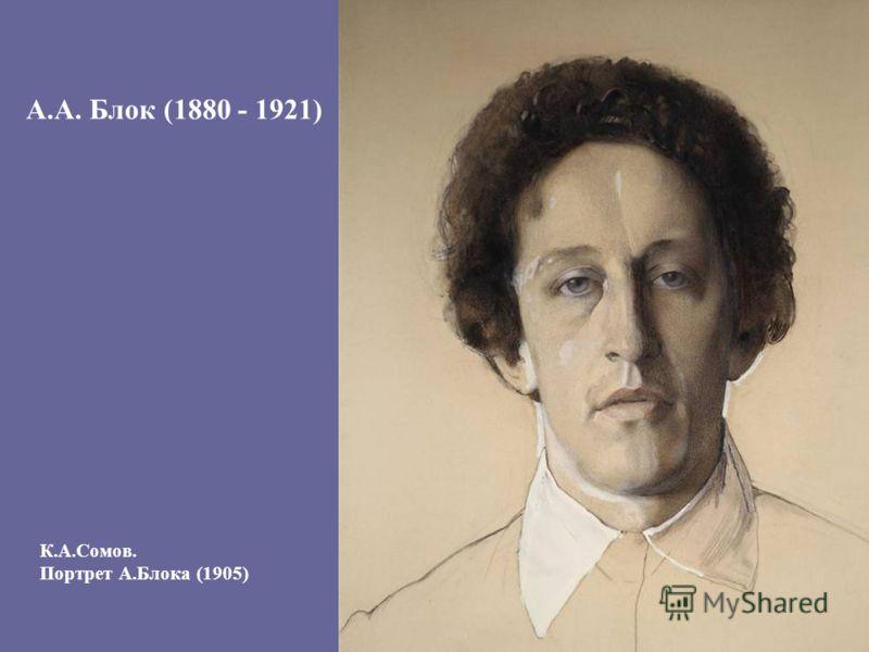 К.А.Сомов. Портрет А.Блока (1905) А.А. Блок (1880 - 1921)