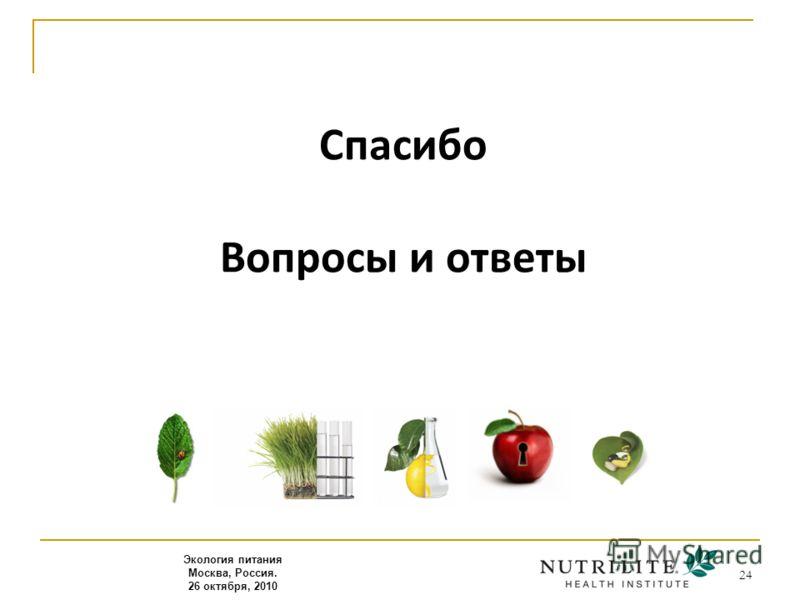 24 Спасибо Вопросы и ответы Экология питания Москва, Россия. 26 октября, 2010