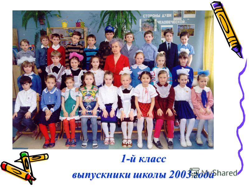 1-й класс выпускники школы 2003 года