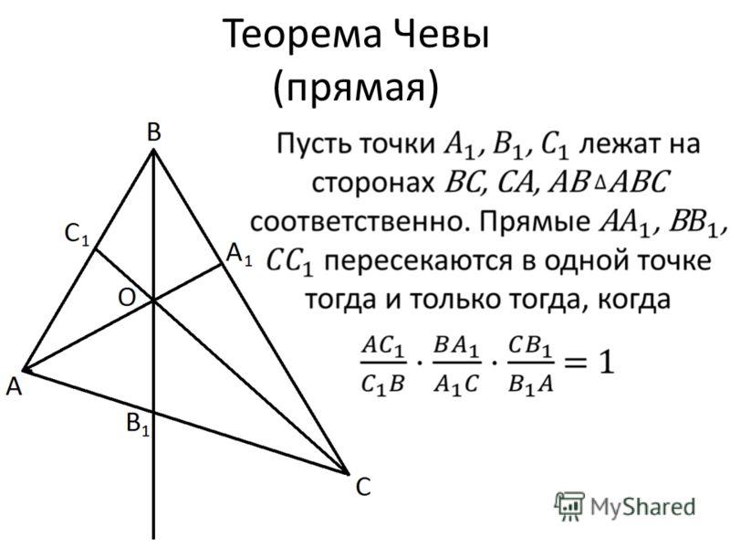 Теорема Чевы (прямая)