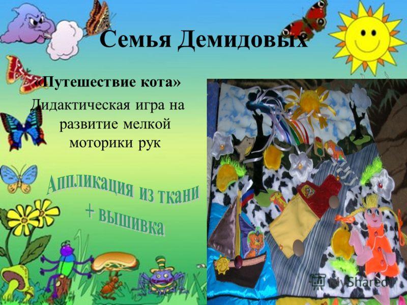 Семья Демидовых «Путешествие кота» Дидактическая игра на развитие мелкой моторики рук