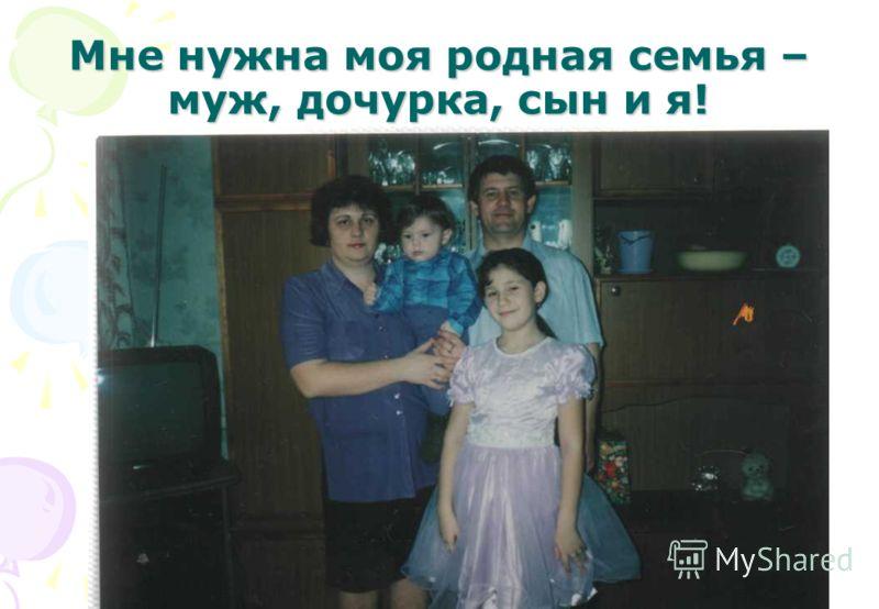 Мне нужна моя родная семья – муж, дочурка, сын и я!
