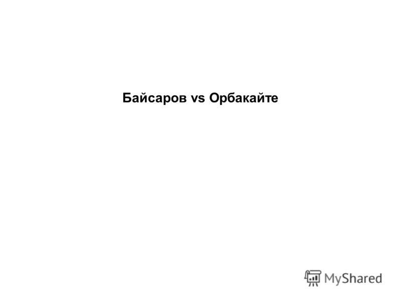 Байсаров vs Орбакайте