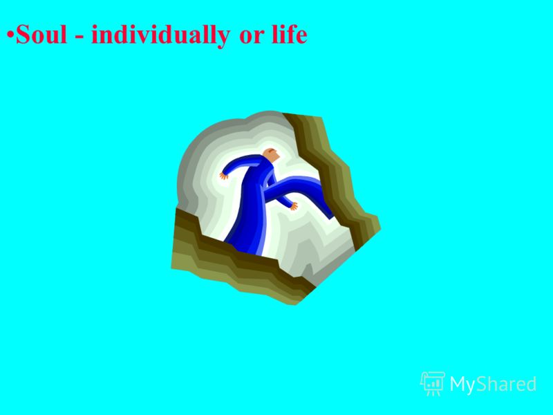 Soul - individually or life