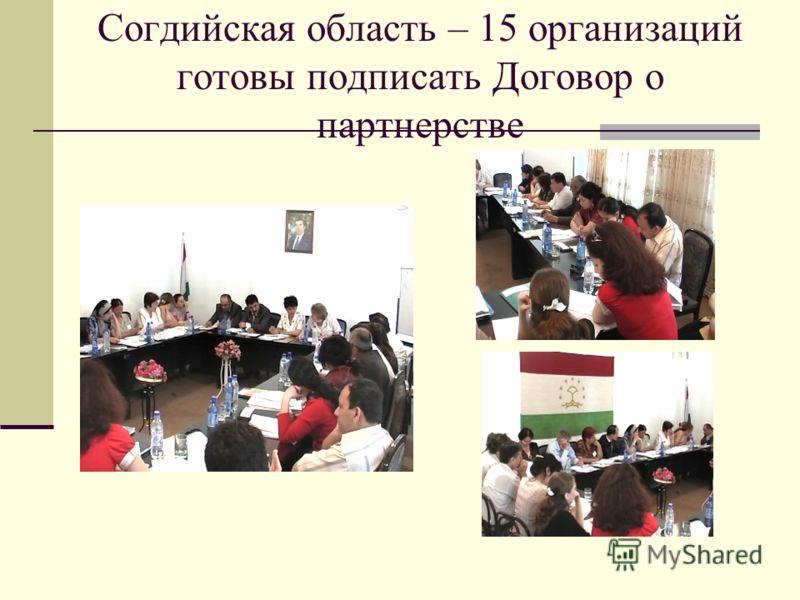 Согдийская область – 15 организаций готовы подписать Договор о партнерстве