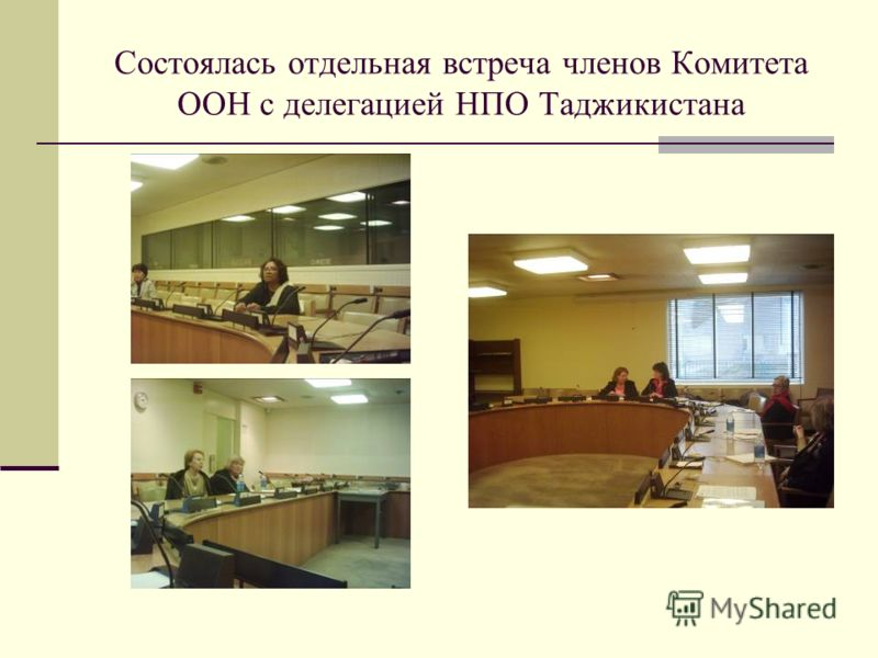 Состоялась отдельная встреча членов Комитета ООН с делегацией НПО Таджикистана