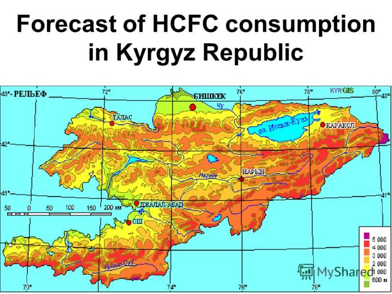 Forecast of HCFC consumption in Kyrgyz Republic