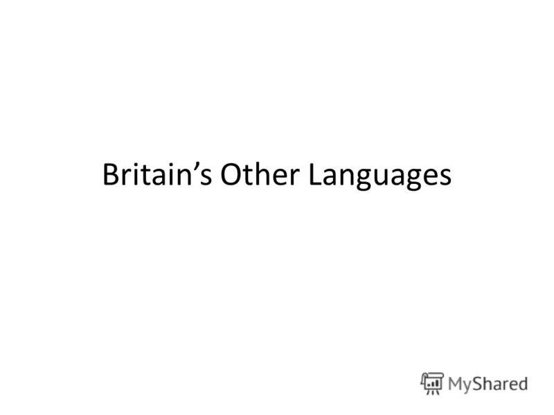 Britains Other Languages