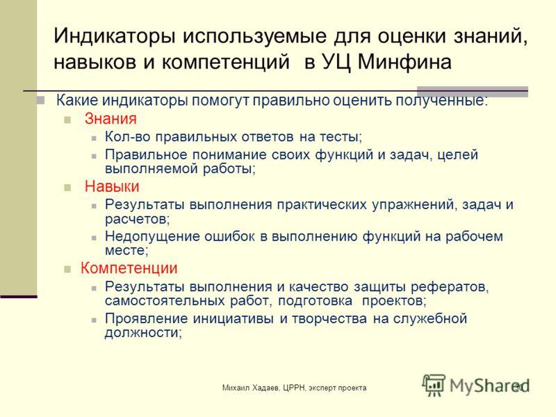 Какие цели преследует обучение в УЦ Минфина Групповая работа Михаил Хадаев, ЦРРН, эксперт проекта29