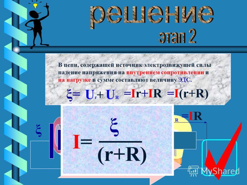 Согласно закону Ома для участка цепи падение напряжения на участке равно : U U=U=R R I I U=IRU=IR