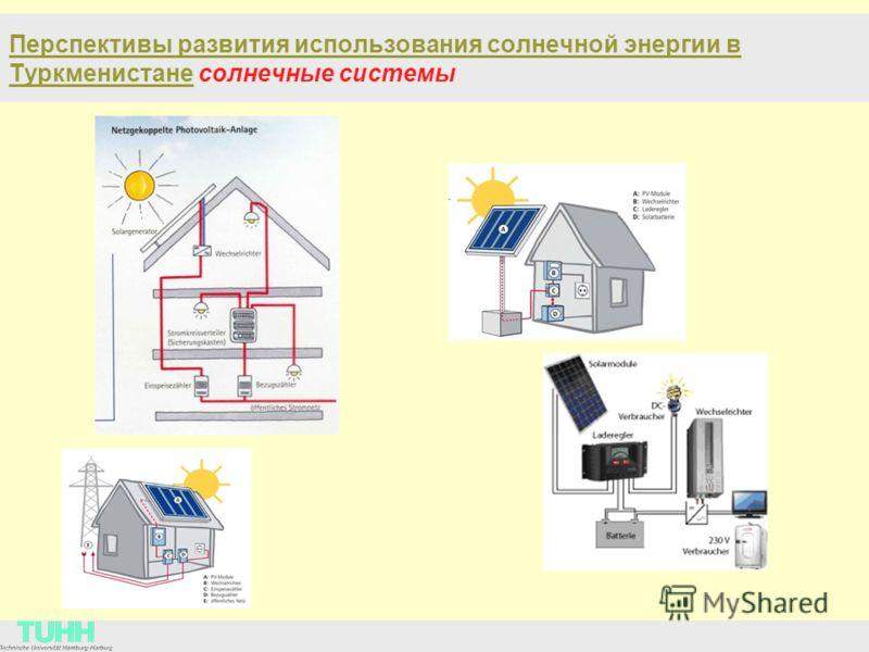 Перспективы развития использования солнечной энергии в Туркменистане солнечные cистемы