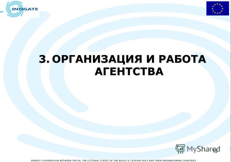 15 3.ОРГАНИЗАЦИЯ И РАБОТА АГЕНТСТВА