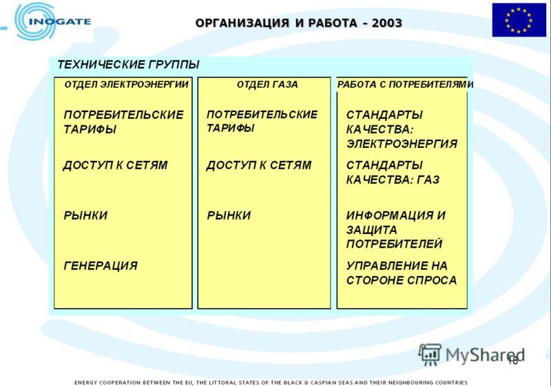 18 ОРГАНИЗАЦИЯ И РАБОТА - 2003