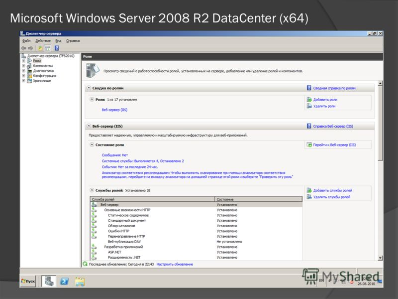 Microsoft Windows Server 2008 R2 DataCenter (x64)
