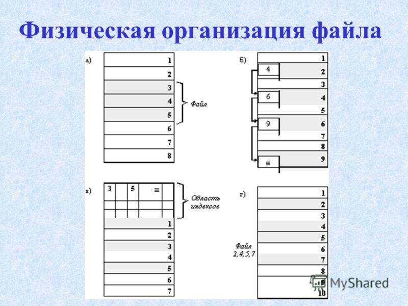 Физическая организация файла