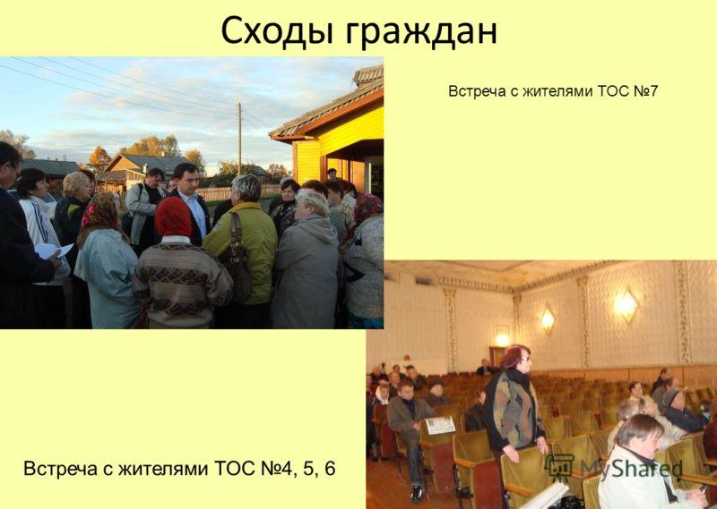 Сходы граждан Встреча с жителями ТОС 7 Встреча с жителями ТОС 4, 5, 6