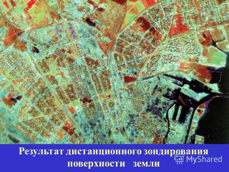 Результат дистанционного зондирования поверхности земли