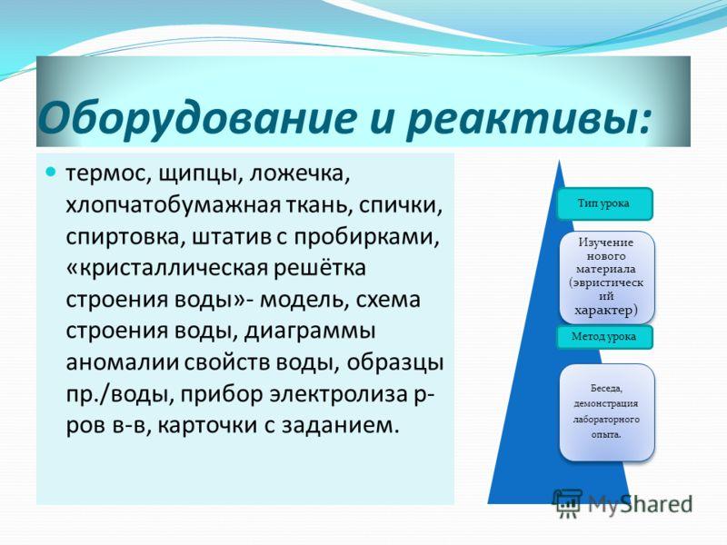 свойств воды, образцы пр.