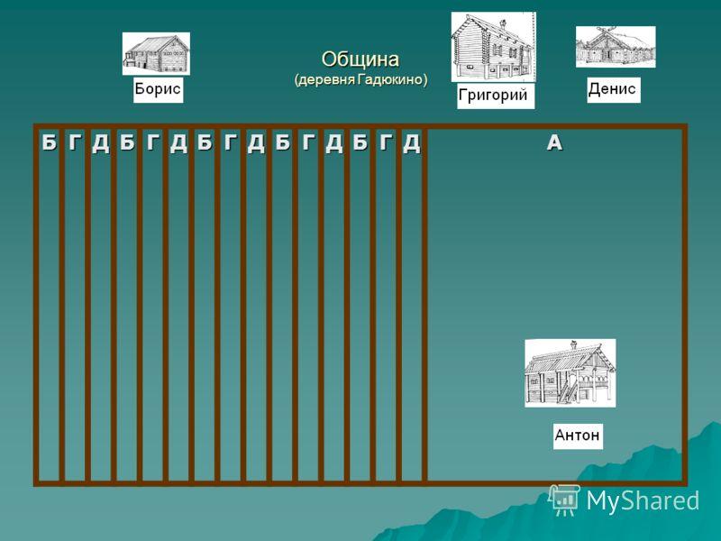 Община (деревня Гадюкино) БГДБГДБГДБГДБГДА