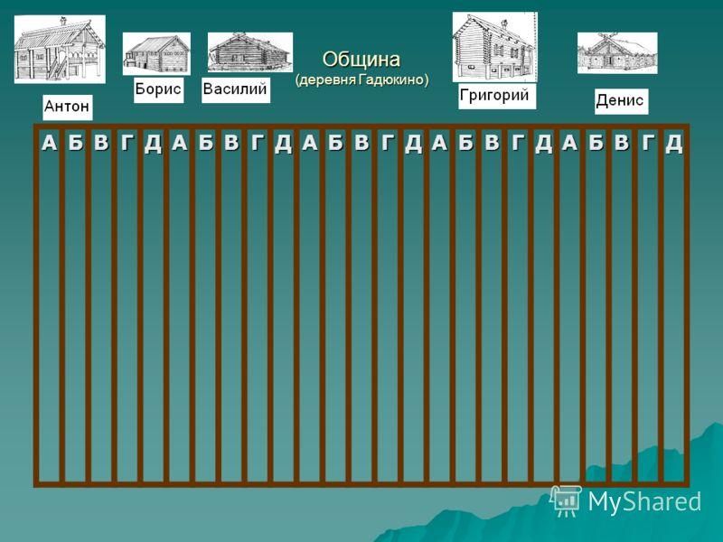 Община (деревня Гадюкино) АБВГДАБВГДАБВГДАБВГДАБВГД